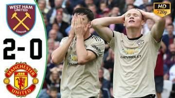 Video: West Ham 2 - 0 Manchester United (Sep-22-2019) Premier League Highlights