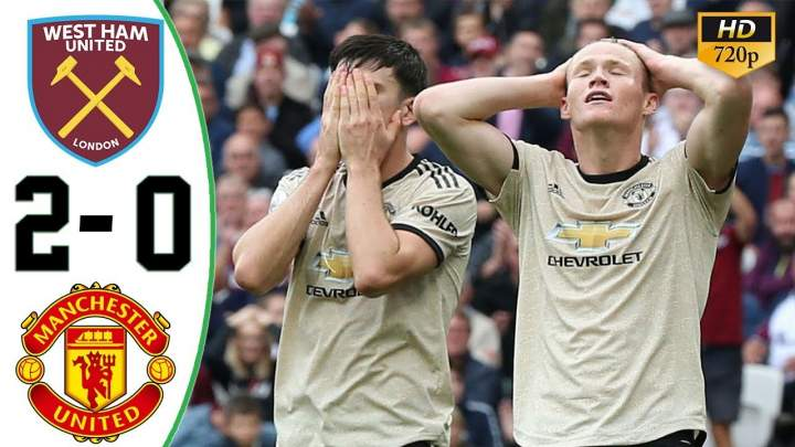 West Ham 2 - 0 Manchester United (Sep-22-2019) Premier League Highlights