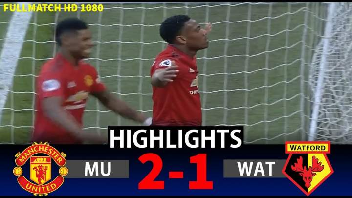 Manchester United 2 - 1 Watford (30-Mar-2019) Premier League Highlights