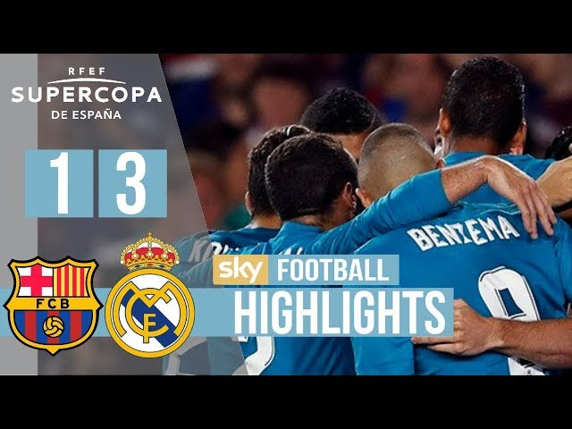 Barcelona 1 - 3 Real Madrid (Aug-13-2017) Super Cup Highlights