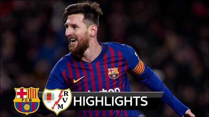 Barcelona 3 - 1 Rayo Vallecano (Mar-09-2019) La Liga Highlights