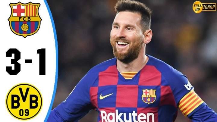 Barcelona 3 - 1 Dortmund (Nov-27-2019) UEFA Champions League Highlights