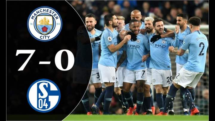 Manchester City 7 - 0 Schalke (Mar-12-2019) Champions League Highlights