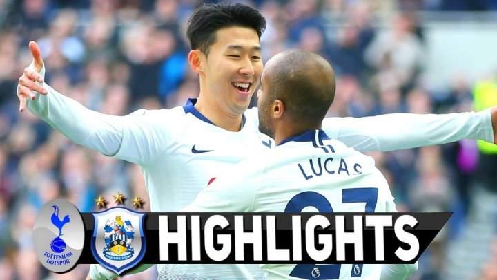 Tottenham Hotspur 4 - 0 Huddersfield (13-APR-2019) Premier League Highlights