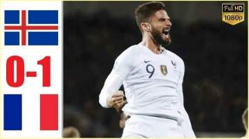 Video: Iceland 0 - 1 France (Oct-12-2019) Euro Qualifiers Highlights