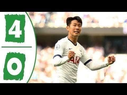 Tottenham 4 - 0 Crystal (Sat-14-2019) Premier League Highlights