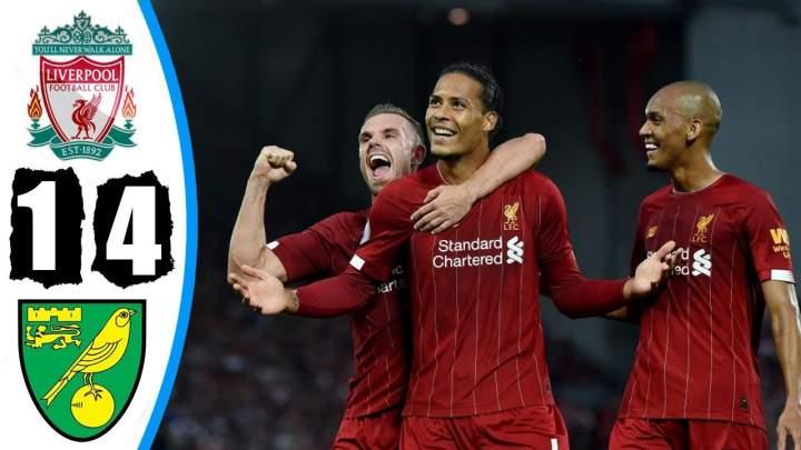Liverpool 4 - 1 Norwich City (Aug-09-2019) Premier League Highlights