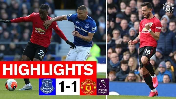 Everton 1 - 1 Manchester Utd (Mar-01-2020)  Premier League Highlights