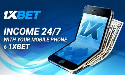 Earn money with your mobile phone at 1xBet