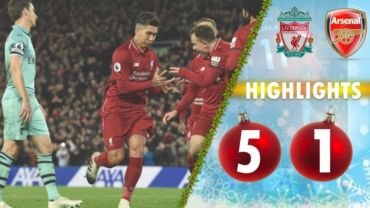 Liverpool 5 - 1 Arsenal (Dec-29-2018) Premier League Highlights