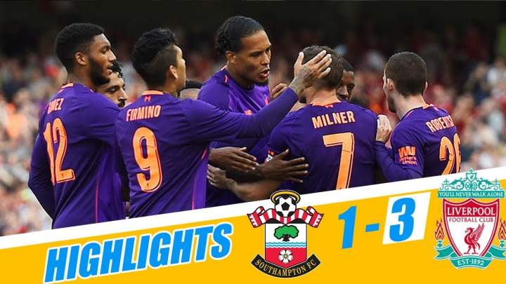 Southampton 1 - 3 Liverpool (05-APR-2019) Premier League Highlights