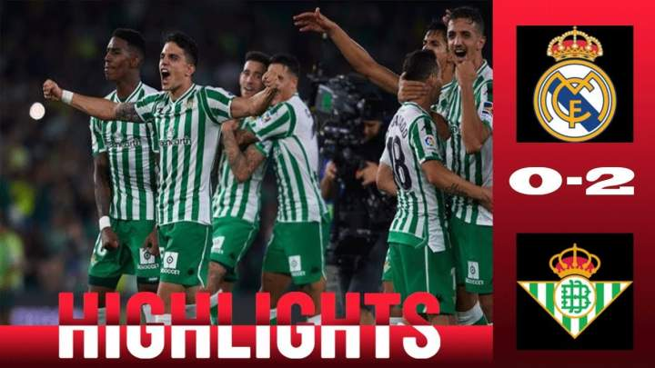 Real Madrid 0 - 2 Real Betis (19-MAY-2019) La Liga Highlights