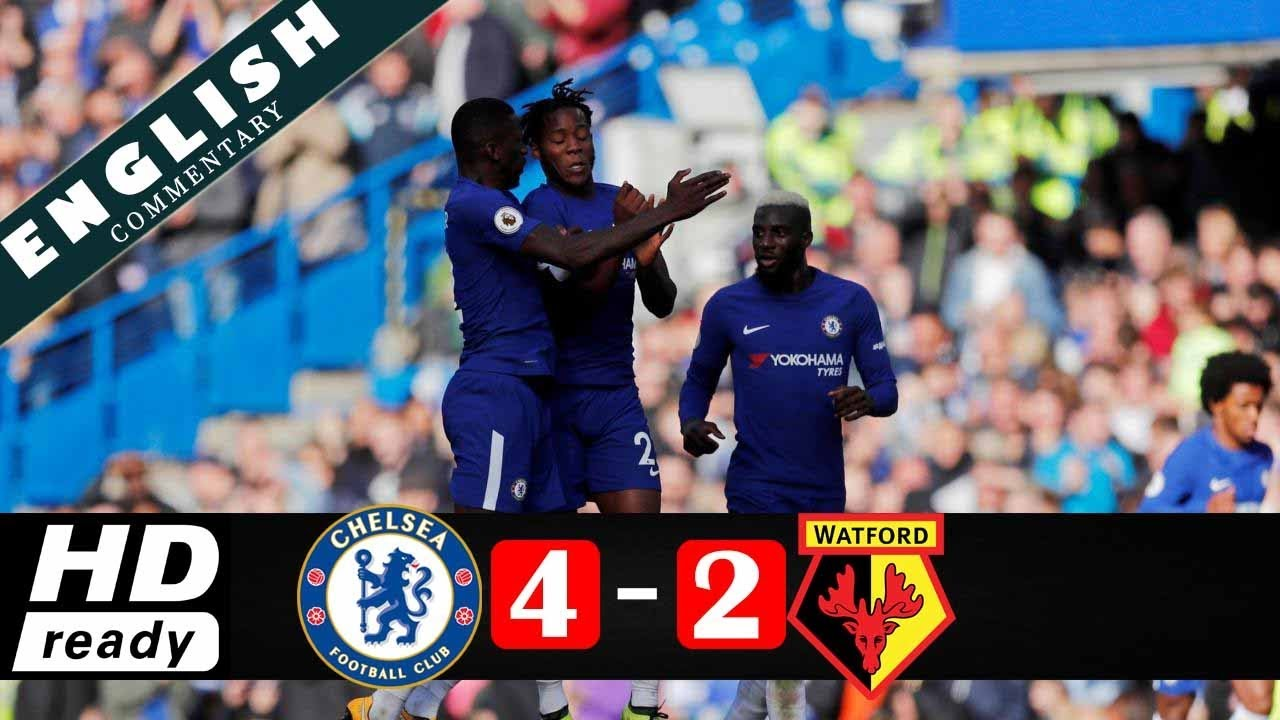 Chelsea 4 - 2 Watford (Oct-21-2017) Premier League Highlights