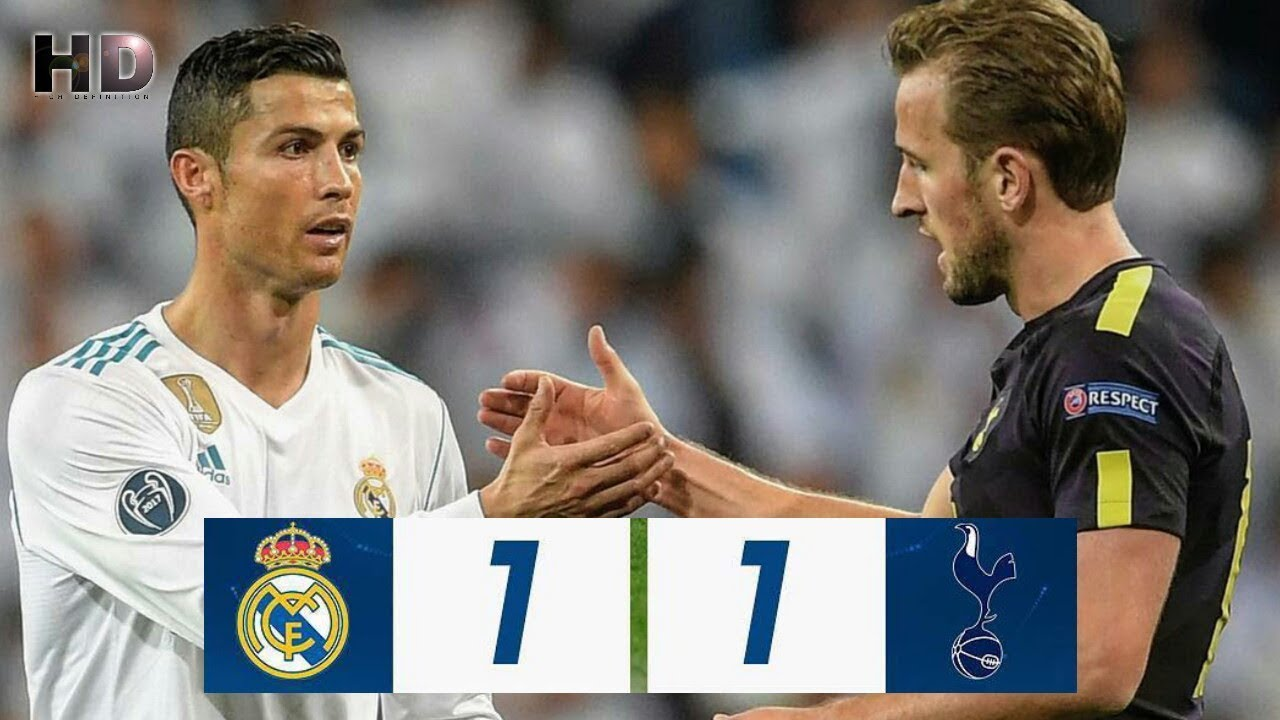 Real Madrid 1 - 1 Tottenham Hotspur (Oct-17-2017) Champions League Highlights