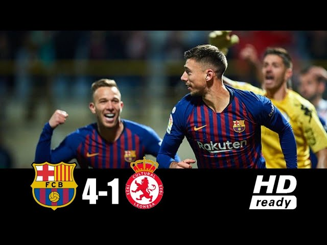 Barcelona 4 - 1 Leonesa (Dec-05-2018) Copa del Rey Highlights