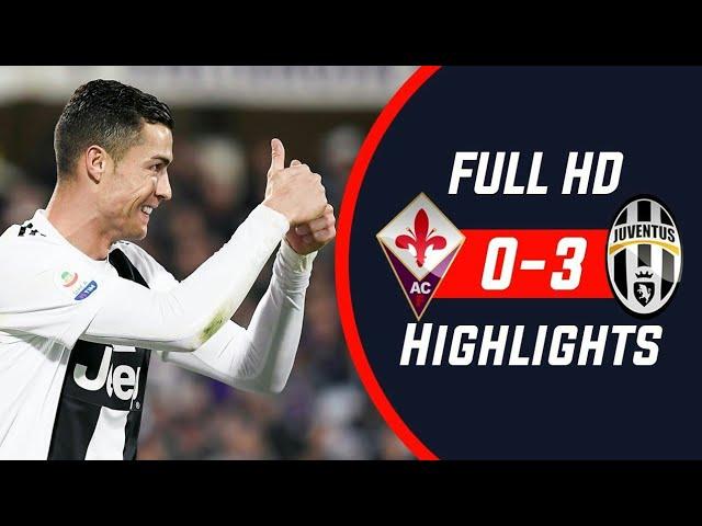 Fiorentina 0 - 3 Juventus (Dec-01-2018) Serie A Highlights