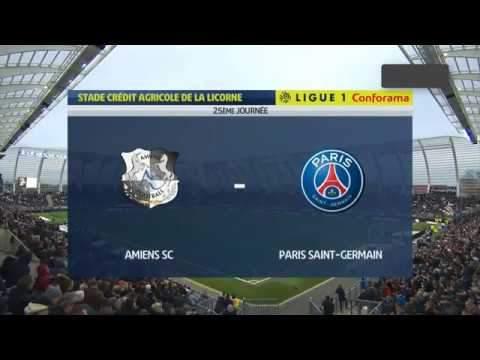 Amiens 4 - 4 Paris SG (Feb-15-2020) Ligue 1 Highlights