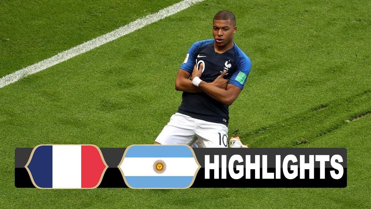 Argentina 3 - 4 France (Jun-30-2018) World cup Highlights