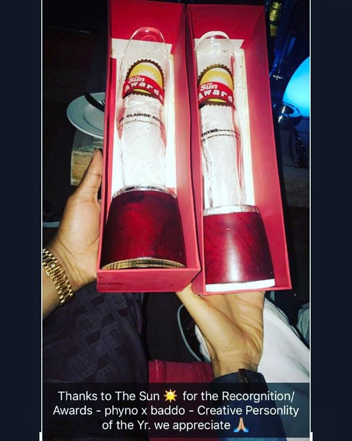 Sun Awards Olamide And Phyno Creative Personalities Of The Year