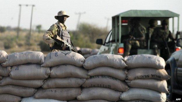 Nigerian Army Checkpoint In Borno
