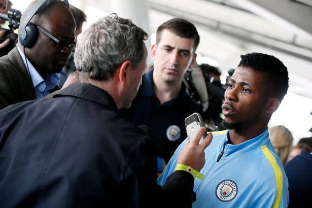 Iheanacho At Pep Guardiola Conference