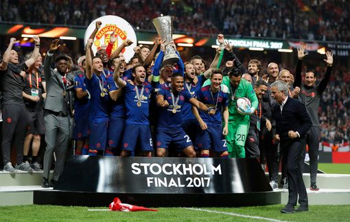 Manchester United Celebrate Winning The Europa May2017
