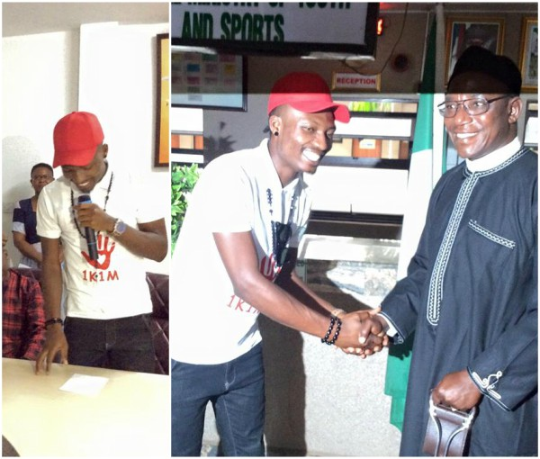 Big Brother Naija winner Efe becomes Nigeria Youth Ambassador (Photos)