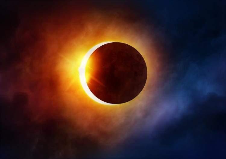Partial Solar Eclipse Clouds