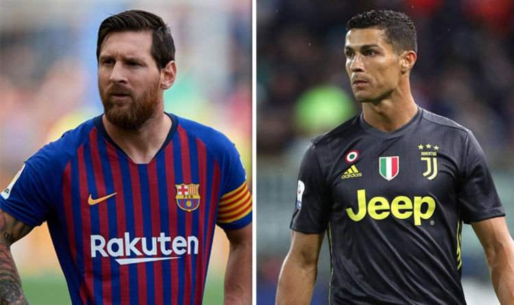 Cristiano Ronaldo Barcelona Ace Lionel Messi Aims Real Madrid Dig Football Sport