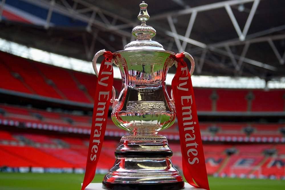Emirates Fa Cup Trophy At Wembley Stadium