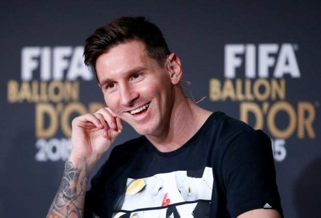 Messi At Ballon DOr News Conference