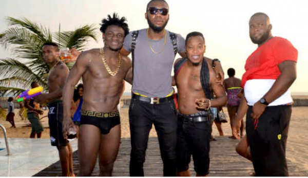 Photos check out obafemi martins hot body as he poses in versace