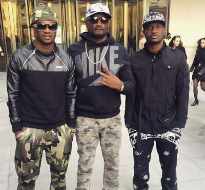 Video: P-Square Brothers Peter, Paul and Jude Okoye In Near Fist Fight at Lawyer's Office