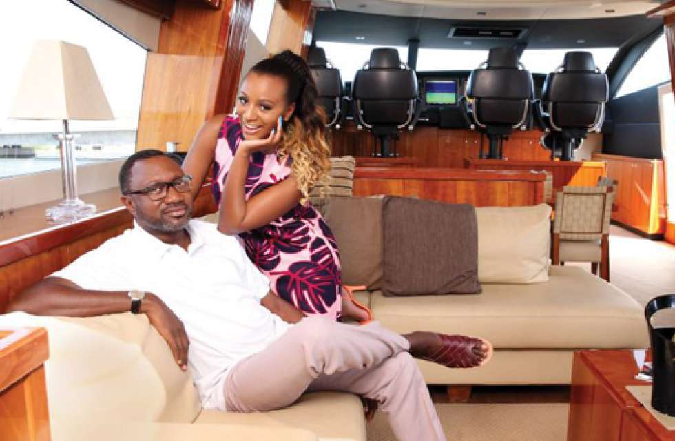 DJ Cuppy And Dad