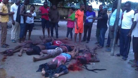 Graphic Photos of Militant Leader and His Commanders Killed in Rivers' Community