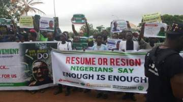 Breaking! Resume Or Resign Protest About To Kick Off In London