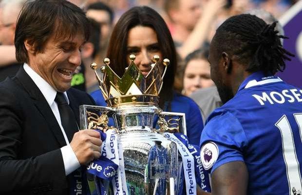 Antonio Conte Victor Moses Premier League Title