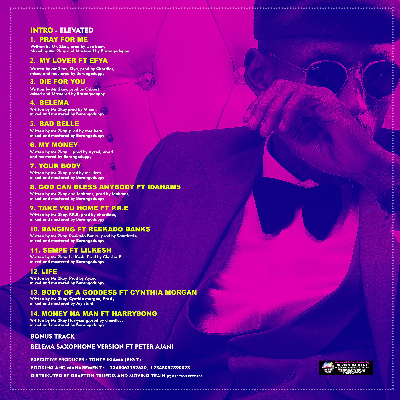 Mr. 2kay Elevated_Album_Tracklist_BackCover