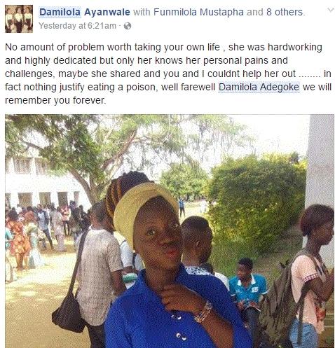 Damilola Commits Suicide 4