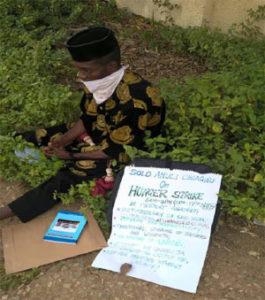 University of Abuja Staff School Teacher Relocates Into the Bush On Hunger Strike