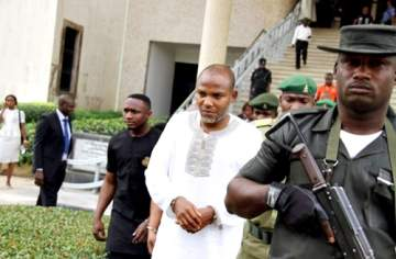 Biafra Agitation: Abuja Court Insists on Three Conditions for Nnamdi Kanu's Sureties