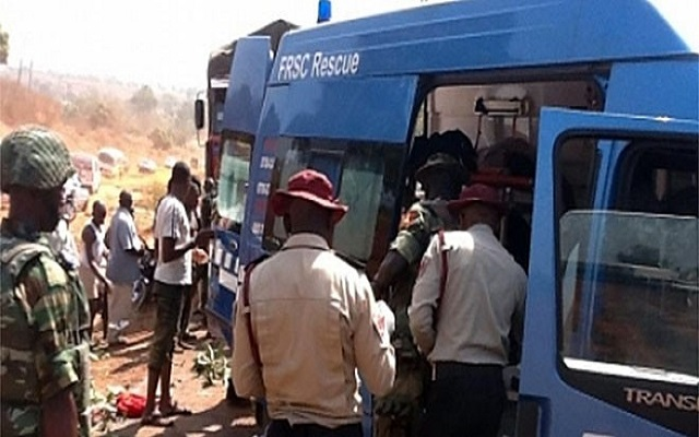 FRSC Officials At The Accident Scene Of The Lagos Ibadan Highway