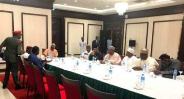 BREAKING News: President Buhari In Emergency Meeting With 7 Governors (Photos)
