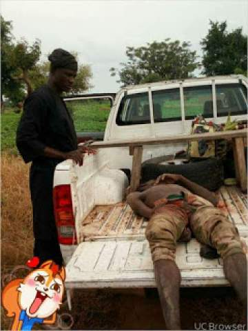 Notorious Boko Haram Commander Who Murdered Gallant Leader of Hunters in Adamawa State Finally Killed (Photo)