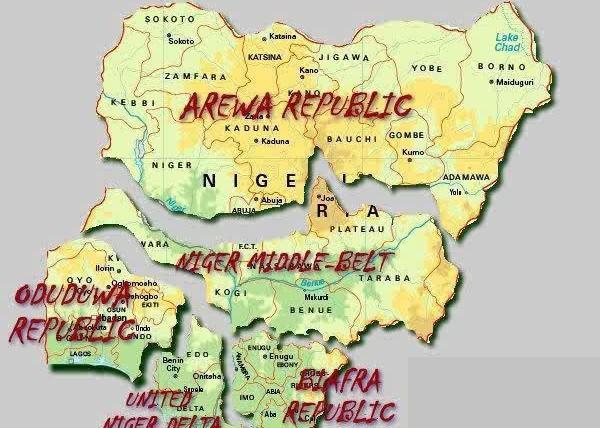 Map Broken Nigeria