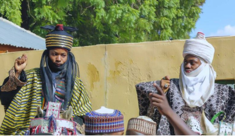 Hausa Actor Protests As Korede Bello Bags Chieftaincy Title In Kano (photo )