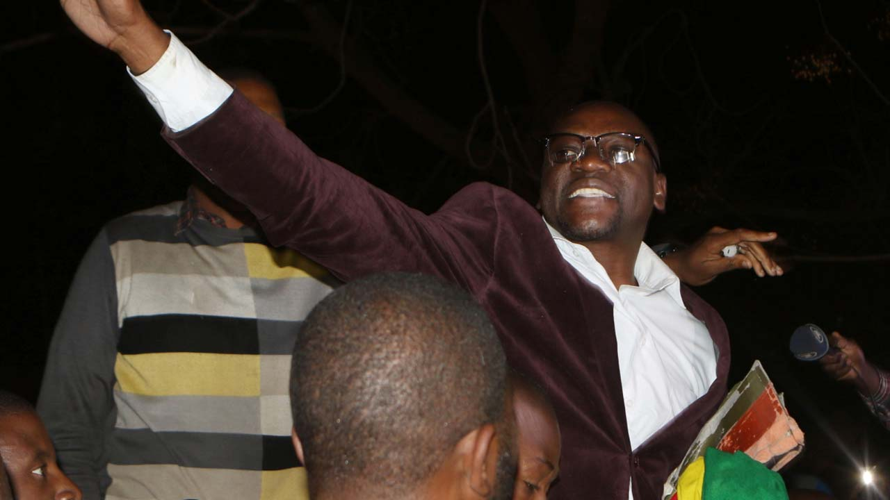Evan Mawarire Is Lifted By Followers After His Release At Harare Magistrates Court On July 13