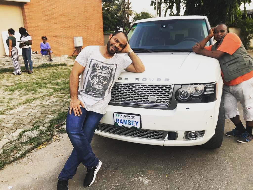 Ramsey Nouah Shows Off His Customized Range Rover Picture