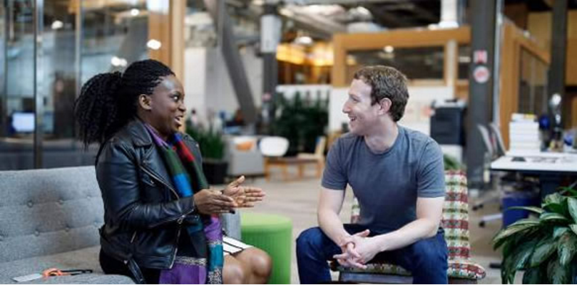 Mark Zuckerberg Meets Founder Of FIN, Females In Nigeria Facebook Group, Lola Omolola