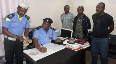 "Photos Of Three Police Men Dismissed For Extorting N200,000 From a ""Yahoo Boy"""
